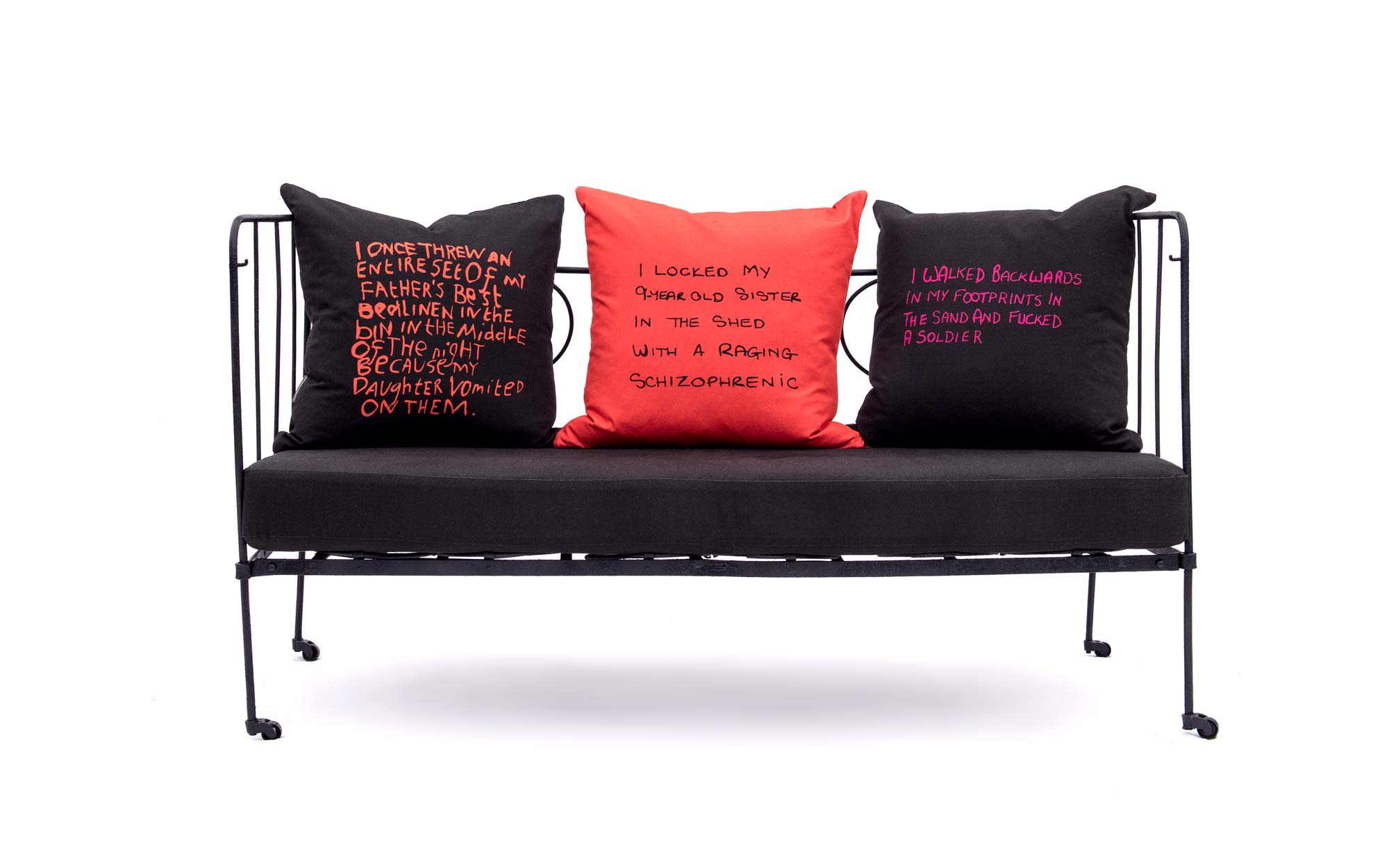 lorraine osborne. confession cushions