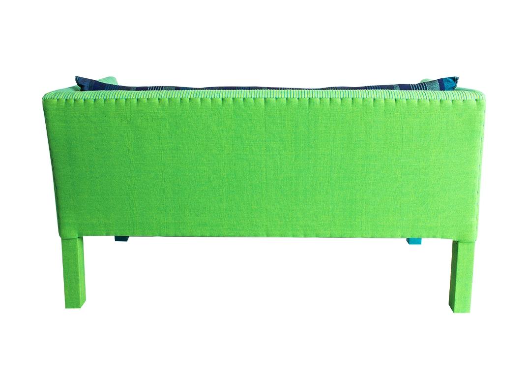 lorraine osborne. green sofa