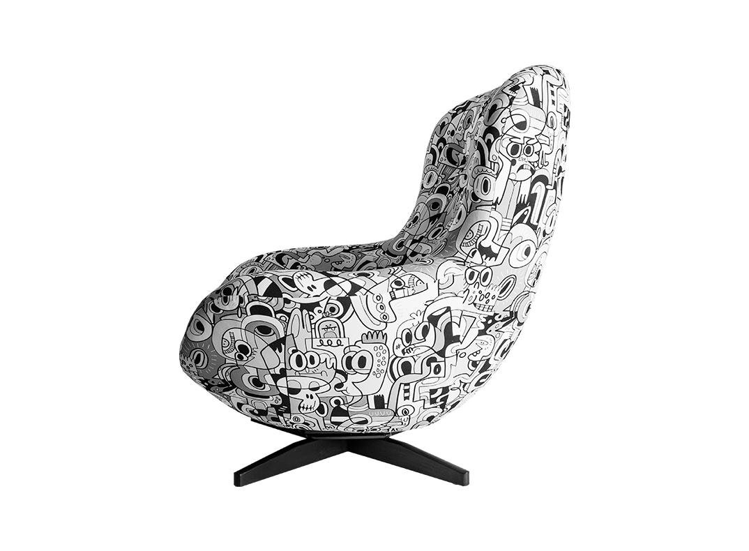 liquorice chair by lorraine osborne