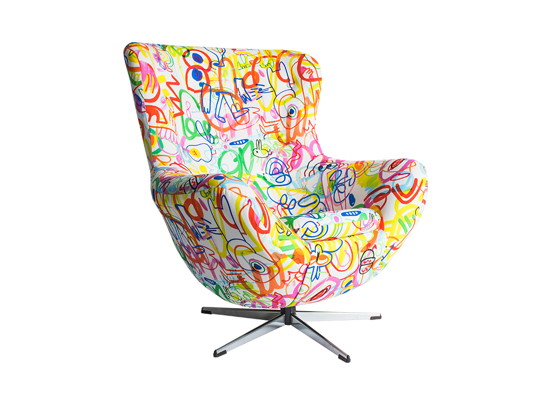 scribble chair by lorraine osbborne