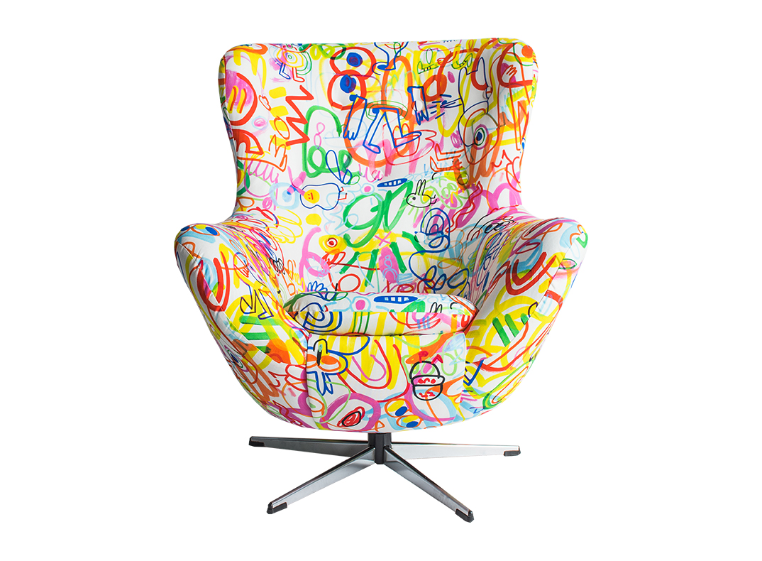 scribble chair by lorraine osborne