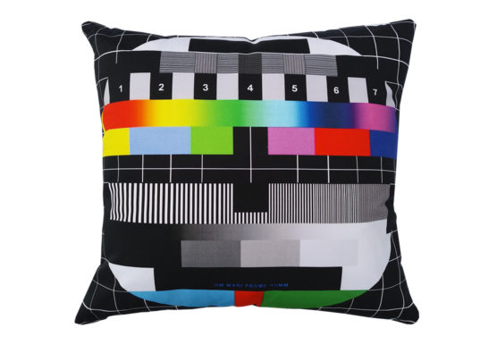 lorrraine osborne. test card cushion